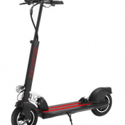 Electric Scooter - Gloss Black with Whiteand Red Trim