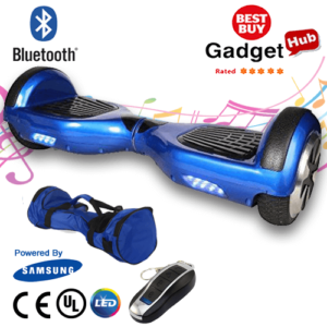 Segway Balance Hover Board - Blue with Bluetooth Speakers & LED