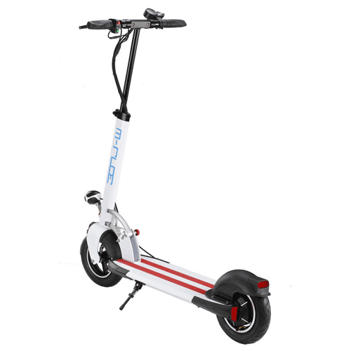 Electric Scooter - Polar White with Black and Red Trim