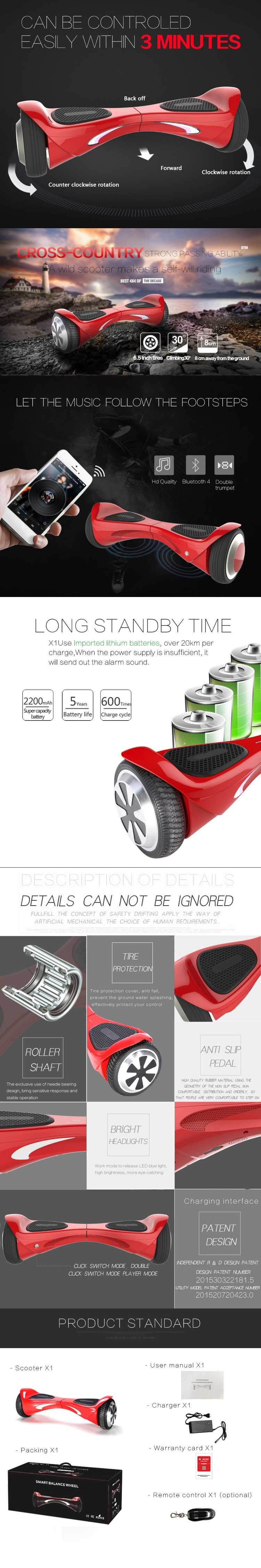2015-Smart-with-LED-Lights-Bluetooth-Speaker-Self-Balance-2-Wheels-Scooter