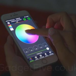led rgbw bluetooth strip mobile app view