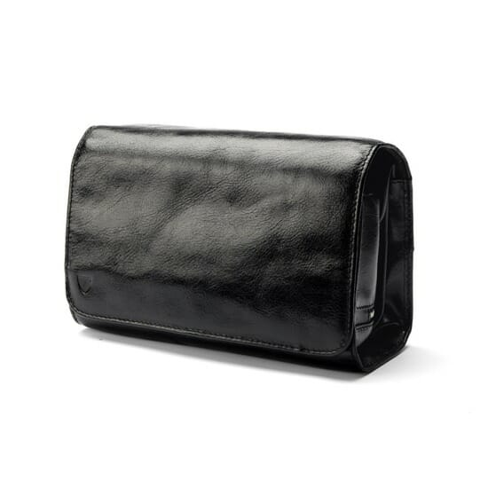 Mens Leather Hanging Wash bag closed