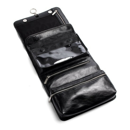 Mens Leather Hanging Wash bag